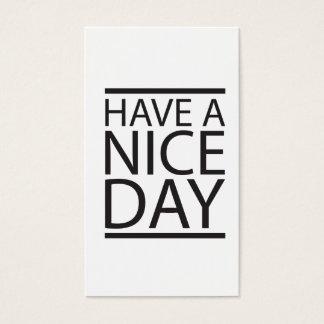 Haben Sie einen schönen Tag Visitenkarte