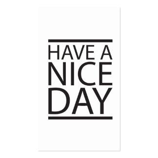 Haben Sie einen schönen Tag Visitenkarten