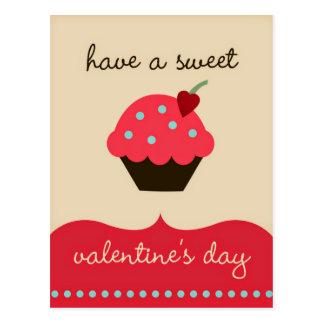 Haben Sie einen süßen Valentinstag! Lustige Postkarten