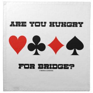 Haben Sie für Brücke Hunger? (Vier kardieren Stoffserviette