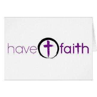 Haben Sie Glauben Notecard, das mit Kreis-Kreuz Karte