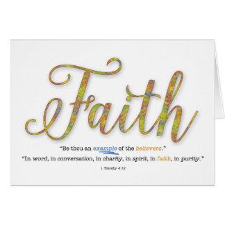 Haben Sie Glauben-Typografie 1 Timothy-4:12 Karte