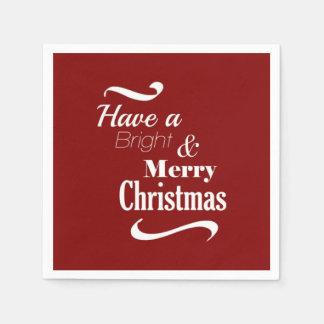 Haben Sie hellen und frohen Weihnachten Papierserviette