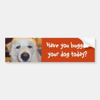Haben Sie Ihren Hund heute umarmt? Autoaufkleber