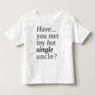 haben Sie meinen heißen Singleonkel getroffen? Kleinkind T-shirt