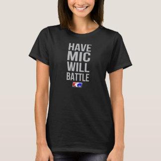 Haben Sie Mic-T-Stück Femcee (Schwarzes) T-Shirt