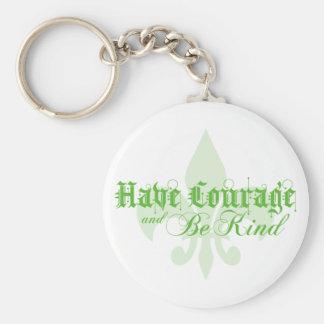Haben Sie Mut und seien Sie nettes - Lilie - Grün Schlüsselanhänger