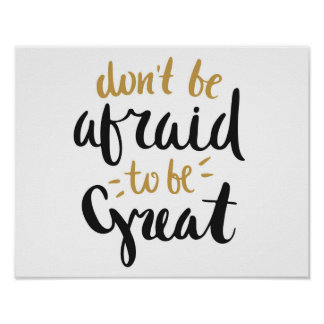 """""""Haben Sie nicht Angst, großes"""" Plakat zu sein"""