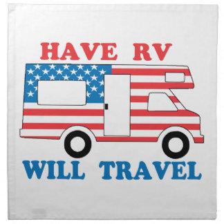 Haben Sie RV reist Amerika Stoffserviette