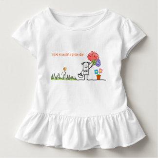 Haben Sie sich ein großes Tagesrüsche-T-Shirt Kleinkind T-shirt