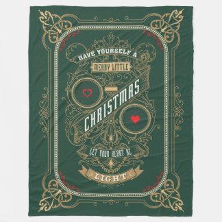 Haben Sie sich frohen wenig Weihnachten Fleecedecke
