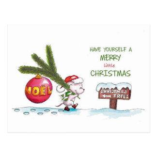 Haben Sie sich frohen wenig Weihnachten - Postkarte
