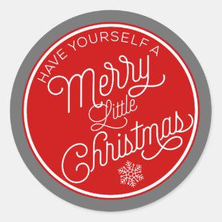 Haben Sie sich frohen wenig Weihnachten Runder Aufkleber