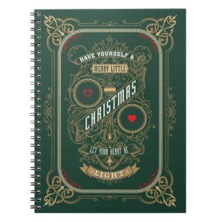 Haben Sie sich frohen wenig Weihnachten Spiral Notizblock