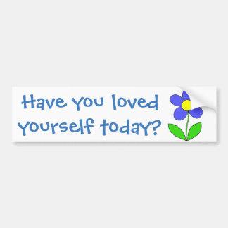 Haben Sie sich heute geliebt? Autoaufkleber