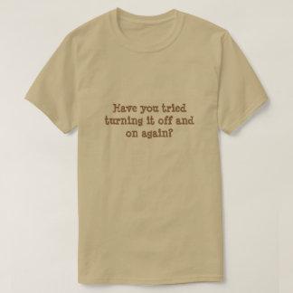 Haben Sie versucht, es mit Unterbrechungen zu T-Shirt