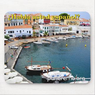 ¿ Habla usted español? Menorca, Spanien Mousepad