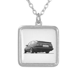 hachi ae86 Korolla Toyota-Sprinter trueno Halskette Mit Quadratischem Anhänger