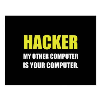 Hacker anderer Ihr Computer Postkarte