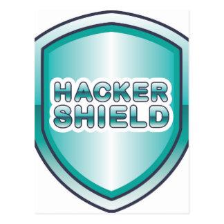 Hacker-Schild Postkarte