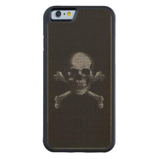 Hacker-Totenkopf mit gekreuzter Knochen Bumper iPhone 6 Hülle Ahorn