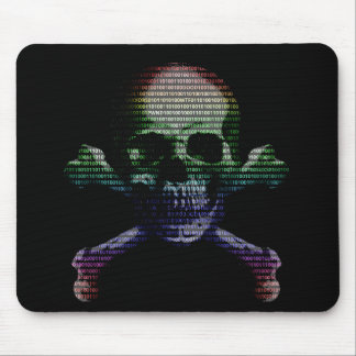 Hacker-Totenkopf mit gekreuzter Knochen Mauspad