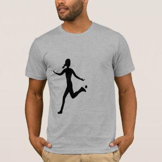 Hackysack Mädchen, schwarz T-Shirt