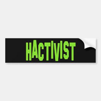 Hactivist Hacker-Aktivist Auto Sticker