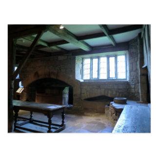 Haddon Hall mittelalterliche Küche Postkarte