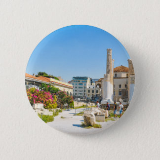 Hadrian Bibliothek in Athen, Griechenland Runder Button 5,7 Cm