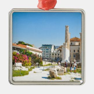 Hadrian Bibliothek in Athen, Griechenland Silbernes Ornament