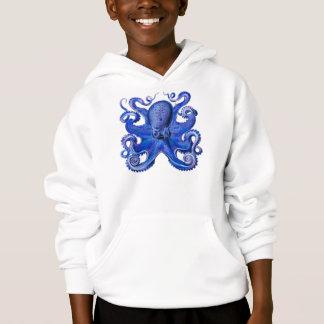 Haeckel Kraken-Blau Hoodie