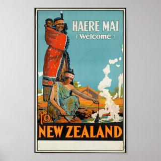 """Haere MAI (Willkommen) nach Neuseeland"" Poster"