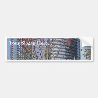 Hafen-Boots-Baum-Gebäude Auto Sticker