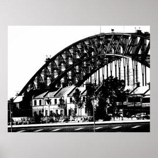 Hafen-Brücken-Ansicht 6 Poster