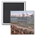Hafen Hamburg Quadratischer Magnet