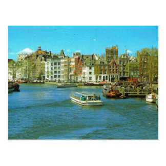 Hafen Hollands, Amsterdam, touristisches Boot Postkarte
