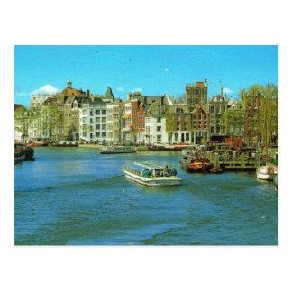 Hafen Hollands, Amsterdam, touristisches Boot Postkarten