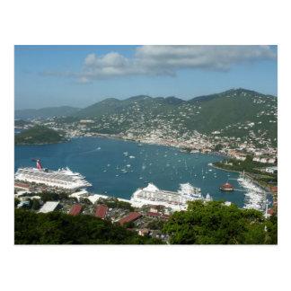Hafen in den Jungferninseln St Thomas US Postkarte
