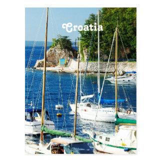 Hafen in Kroatien Postkarte