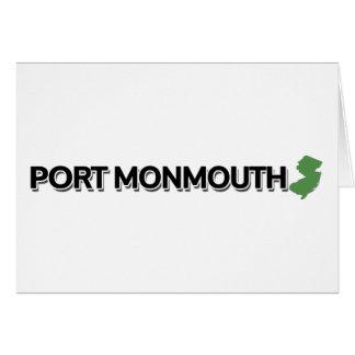 Hafen Monmouth, New-Jersey Karte