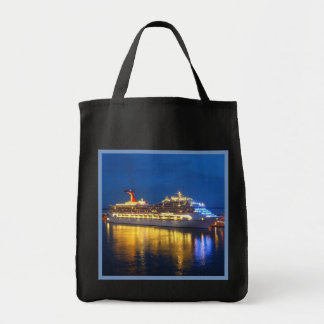 Hafen-Reflexionen auf Dunkelheit Einkaufstasche