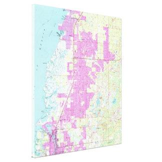 Hafen Richey u. neuer Hafen Richey Florida Map Leinwanddruck