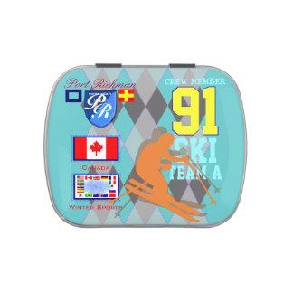 Hafen Richman Kanada Winter-Sport-Ski Süßigkeitenbox
