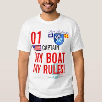 Hafen Richman mein Boot meine Regeln See-USA Shirt