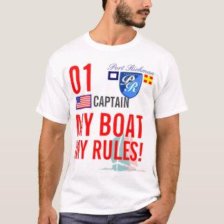 Hafen Richman mein Boot meine Regeln See-USA T-Shirt