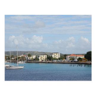 Hafen-Segelboote Bonaires Kralendijk Postkarte