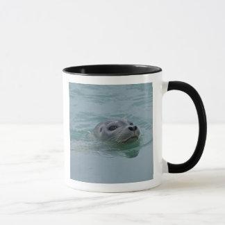 Hafen-Siegelschwimmen Jokulsarlon im Glazial- See Tasse