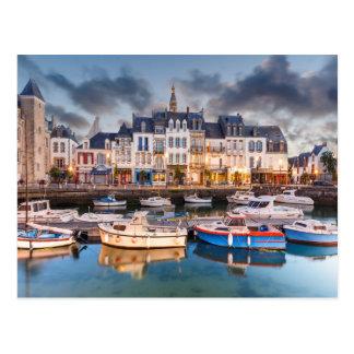 Hafen-Stadt von Le Croisic Frankreich Postkarte