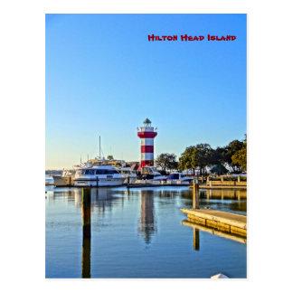 Hafen-Stadtleuchtturm - Hilton Head Island Sc Postkarte